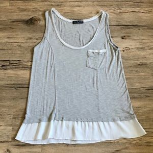 Gray Ruffle Tank Top